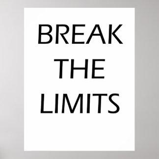 Brechen Sie die Grenzen - motivierend Plakat
