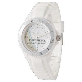 Breite-Länge-Seediagramm Fort Pierce FL Uhr