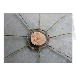 Breites Holz und Bambus der Kreis-Form-1 Karte