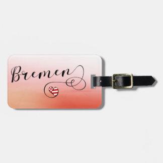 Bremen-Herz-Gepäckanhänger-Schablone, Deutschland Kofferanhänger