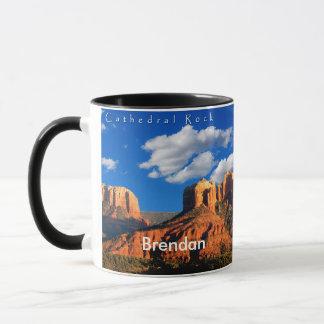 Brendan auf Kathedralen-Felsen und Gericht-Tasse Tasse