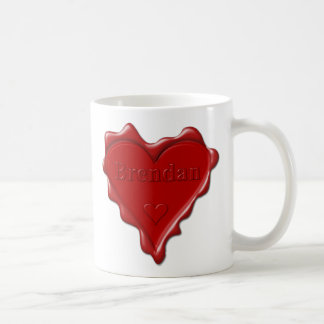 Brendan. Rotes Herzwachs-Siegel mit Namensbrendan Kaffeetasse