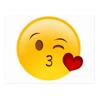 Brennen Sie einen Kuss emoji Aufkleber durch Postkarte