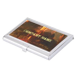 Brennende Kohlen Visitenkarten Etui