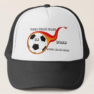 Brennender Flammen-Fußball Truckerkappe
