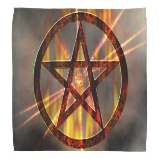 Brennender Pentagram Kopftuch
