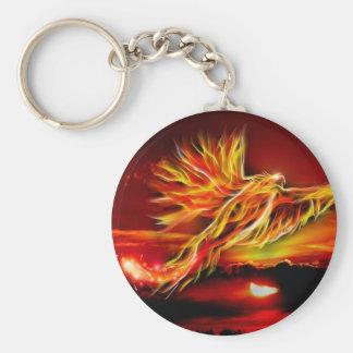Brennender roter fliegender Phoenix-Garten des Schlüsselanhänger