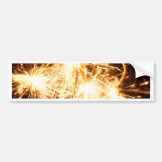 Brennender Sparkler in der Form eines Herzens Autoaufkleber