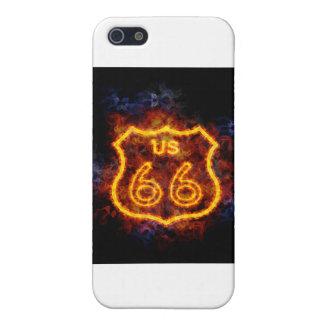 Brennender Weg 66 iPhone 5 Schutzhülle