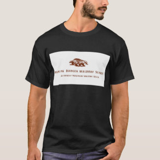 Brennendes Dachs Waldorf Schullogo T-Shirt