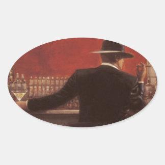 Brent lynchen Zigarren-Bar Ovaler Aufkleber
