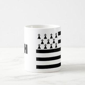 Bretagne-Flaggen-Tasse Kaffeetasse
