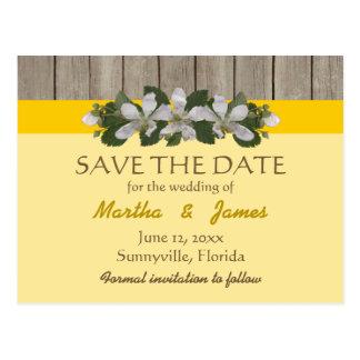Briar-Flecken/Freesia-gelbe Land-Hochzeit Postkarte