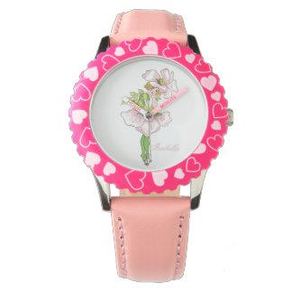 Briar-Rosen-niedliches Blumen-Kinderlustiges mit Armbanduhr
