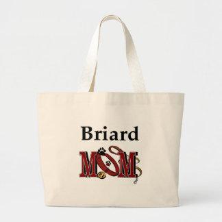 briard Mamma Taschen-Tasche Jumbo Stoffbeutel