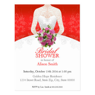 Bridal Shower Netz invitation Postkarte