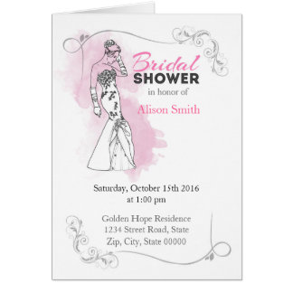Bridal Shower romantic invitation Karte