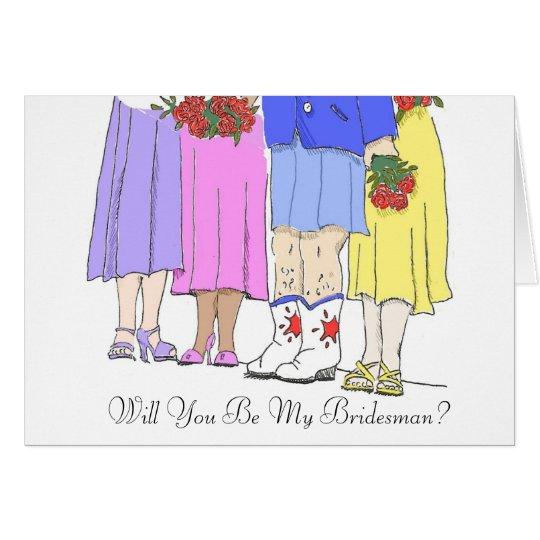 Bridesman, sind Sie mein Bridesman? Karte