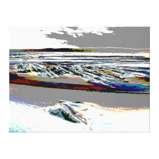 """Bridgewater N.S. """"abstrakte Leinwand des Strandes"""