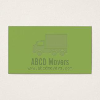 Briefbeschwerer Modern Green Mover Company Visitenkarte