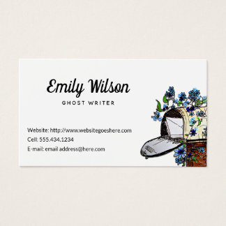 Briefkasten-Kunst-kundenspezifische weiße Visitenkarte