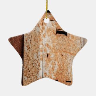 Briefkasten rostig draußen keramik Stern-Ornament