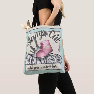 Briefmarkeheraus Sexism rosa Workboot Tasche