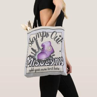 Briefmarken-heraus Frauenhaß lila Workboot Tasche
