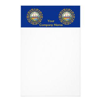 Briefpapier mit Flagge des New Hampshire