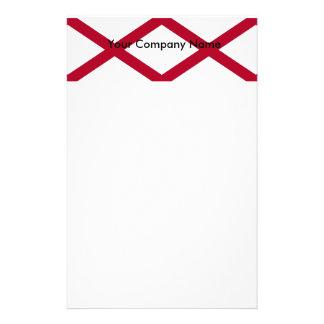 Briefpapier mit Flagge von Alabama