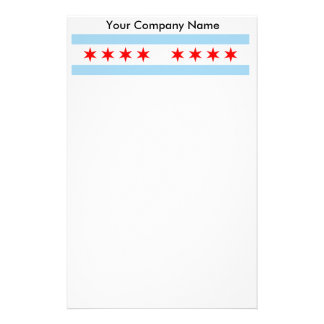 Briefpapier mit Flagge von Chicago, Illinois