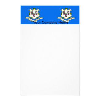 Briefpapier mit Flagge von Connecticut