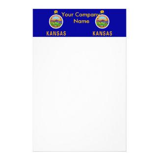 Briefpapier mit Flagge von Kansas