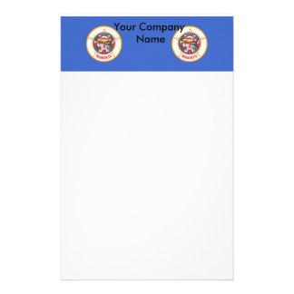 Briefpapier mit Flagge von Minnesota