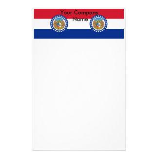 Briefpapier mit Flagge von Missouri