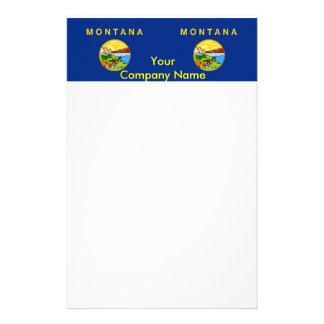 Briefpapier mit Flagge von Montana