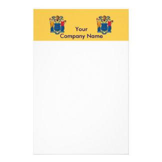 Briefpapier mit Flagge von New-Jersey