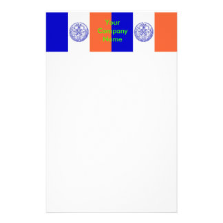 Briefpapier mit Flagge von New York