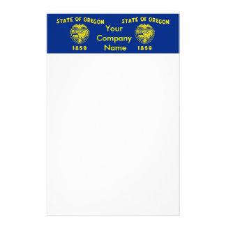 Briefpapier mit Flagge von Oregon