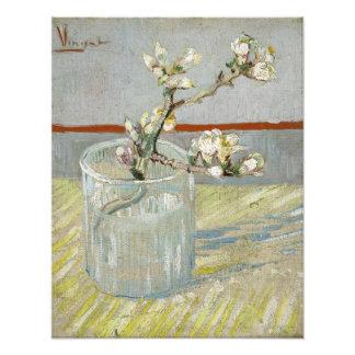 Brin d amande fleurissante dans un verre par Van G