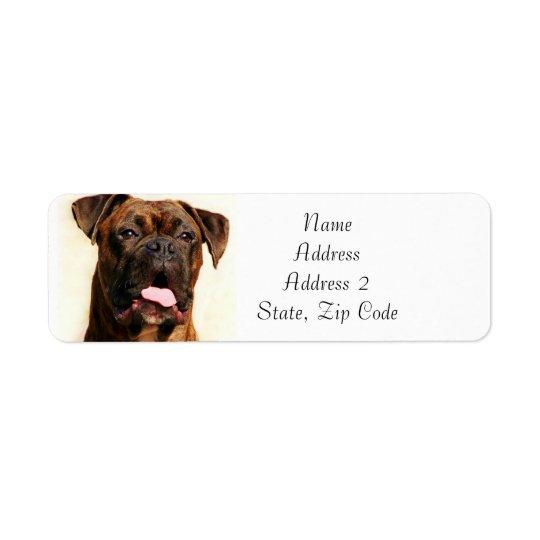 Brindle Boxer-Hundeadressen-Etiketten