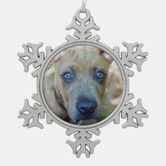Brindle Pitbull-Welpe durch Shirley Taylor Schneeflocken Zinn-Ornament