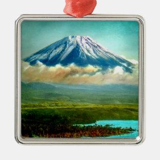 Bringen Sie Fuj über See Motos Vintagem Japan 富士山 Silbernes Ornament