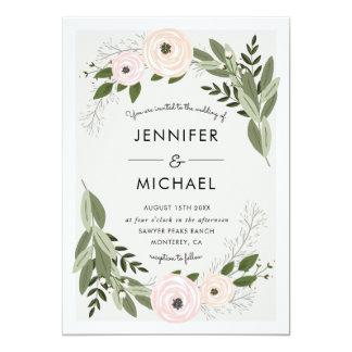 Brins floraux de mariage - invitation de mariage