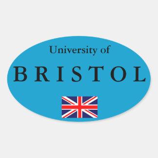 Bristol-Hochschuleuropäischer ovaler Aufkleber