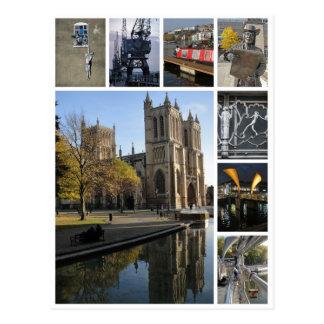 Bristol Multibild Porträtansicht Postkarte