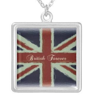 Briten für immer! - Gewerkschafts-Jack-Entwurf Halskette Mit Quadratischem Anhänger