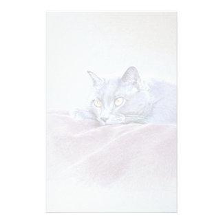 britische blaue shorthair Katzenkunst Briefpapier