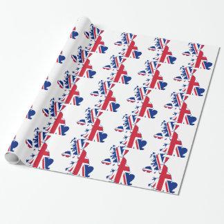 BRITISCHE Flaggen-Karte Geschenkpapier