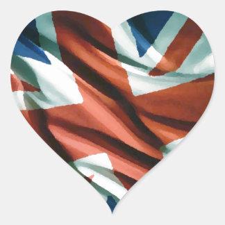 Britische Flaggen-Pop-Kunst Herz-Aufkleber